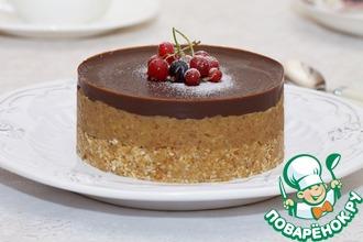 Рецепт: Овсяной десерт Финик в шоколаде