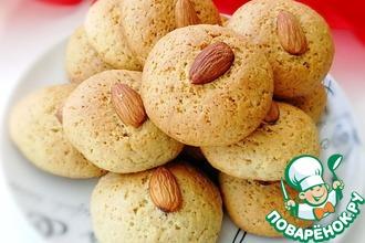 Рецепт: Итальянское постное печенье Миндальное
