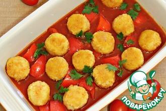 Рецепт: Постные тефтели в томатно-овощном соусе