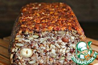 Рецепт: Постный бездрожжевой хлеб На раз-два