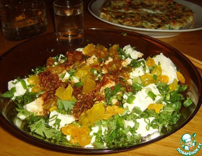 Рецепт: Салат из тофу и солёных яиц