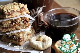 Рецепт: Крошковый пирог с инжиром