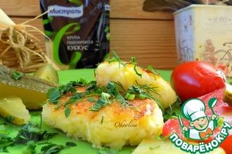 Рецепт: Котлеты из кус-куса и картофеля