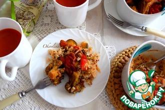 Рецепт: Запечённые овощи в томатном соке
