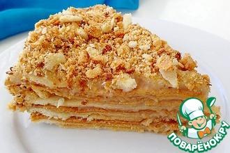 Рецепт: Постный торт Наполеон