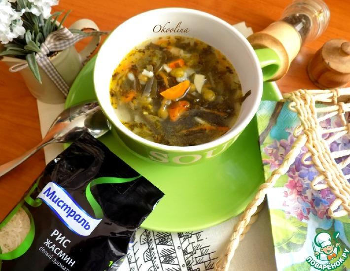 Постный суп с морской капустой