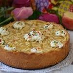 Яблочно-маковый открытый пирог