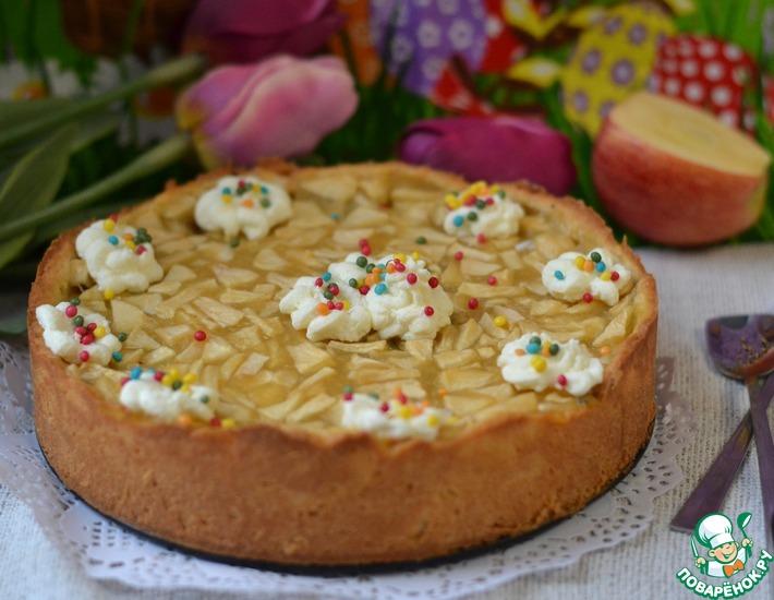 Рецепт: Яблочно-маковый открытый пирог