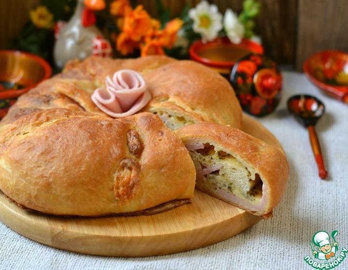 Рецепт: Домашний хлеб с начинкой