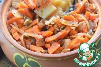 Рецепт: Овощной горшочек с фасолью