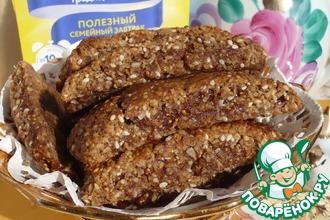 Рецепт: Овсяное печенье с начинкой