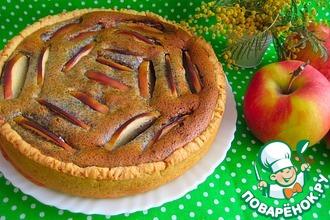 Рецепт: Творожный пирог с маком и яблоками
