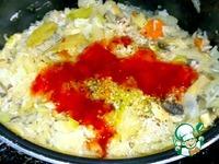 Тушёная капуста с шампиньонами и рисом ингредиенты