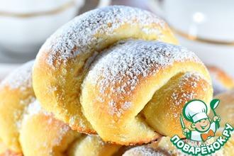 Рецепт: Постные сахарные булочки