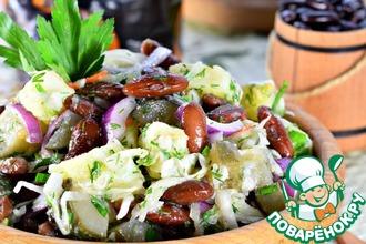Рецепт: Овощной салат с фасолью