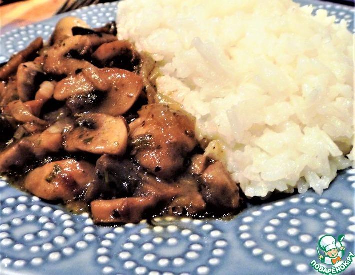 Рецепт: Рис с грибной поджаркой