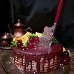 Постный торт Спартак с кокосовым кремом