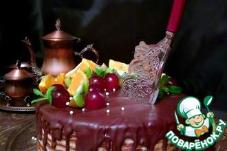 Рецепт: Постный торт Спартак с кокосовым кремом