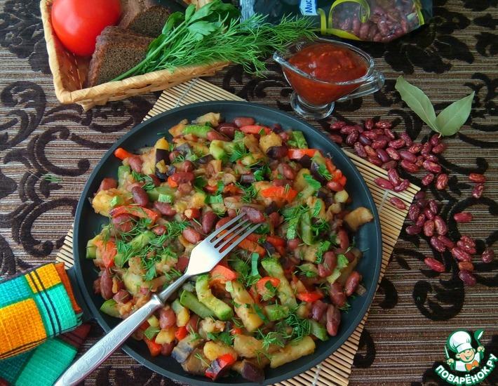 Рецепт: Овощное рагу с фасолью