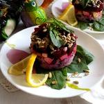 Свекольный салат со шпинатом и рисом