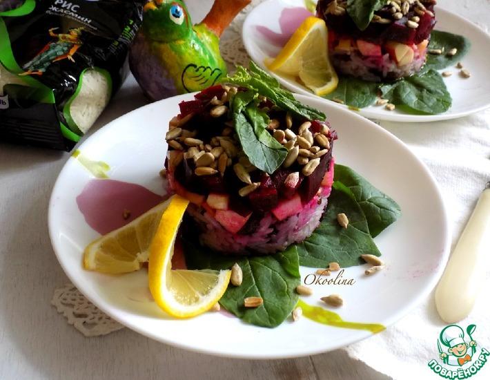 Рецепт: Свекольный салат со шпинатом и рисом