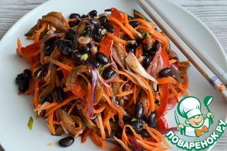 Рецепт: Фасоль с овощами по-корейски