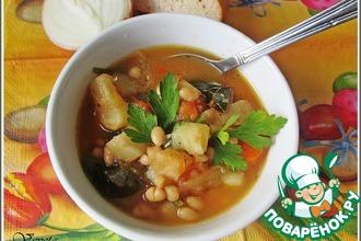 Рецепт: Фасолевый суп по-итальянски
