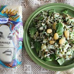 Рис с изюмом и шпинатом