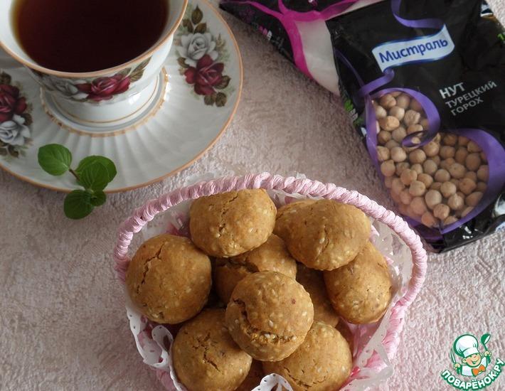 Рецепт: Постное кунжутное печенье