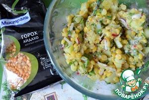 Салат картофельный с горохом Картофель
