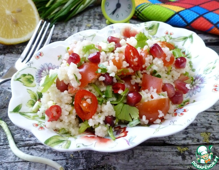 Рецепт: Салат из кускуса с черемшой