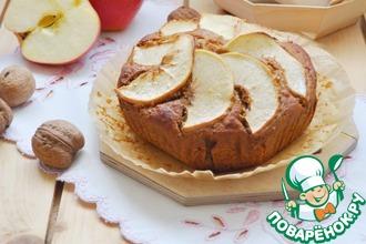 Рецепт: Постная коврижка с яблоками
