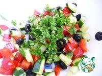 Салат из огурца и маслин ингредиенты