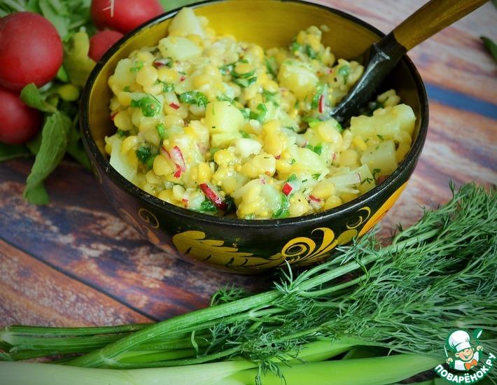 Рецепт: Салат картофельный с горохом