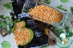 Салат картофельный с горохом фото
