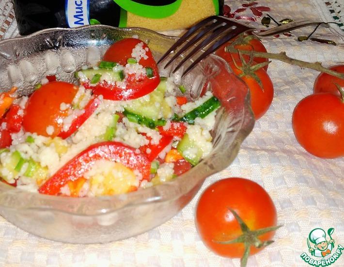 Рецепт: Салат с кус-кусом и овощами