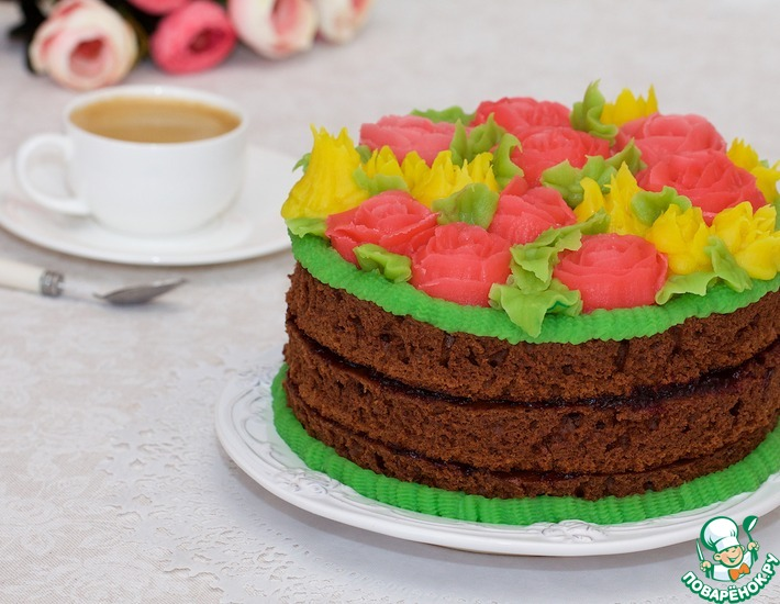 Рецепт: Фасолевая паста для фантазийных цветов