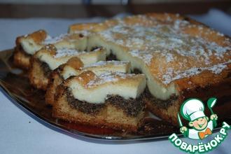 Рецепт: Пирог творожно-маковый
