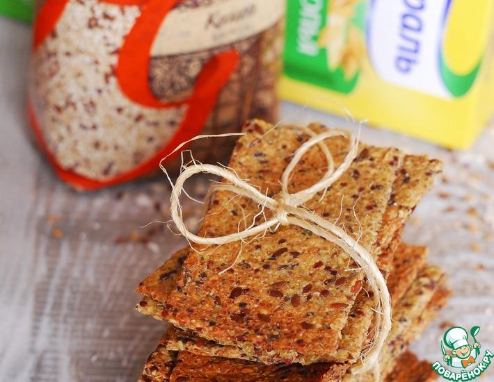 Рецепт: Безглютеновые постные хлебцы