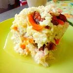 Рисовая запеканка с фруктами