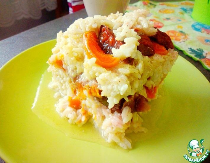 Рецепт: Рисовая запеканка с фруктами
