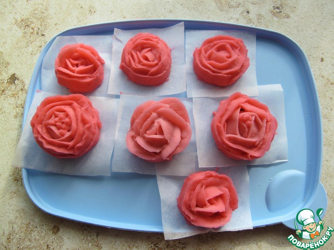 Фасолевая паста для фантазийных цветов