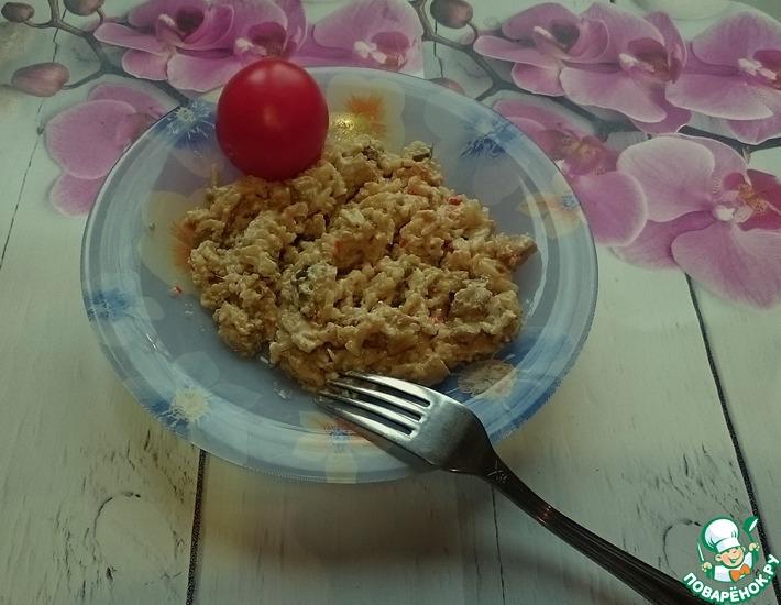 Рецепт: Рис с грибами в сливочном соусе