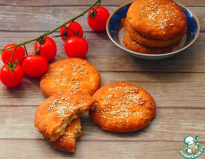 Рецепт: Луковые хлебные лепешки