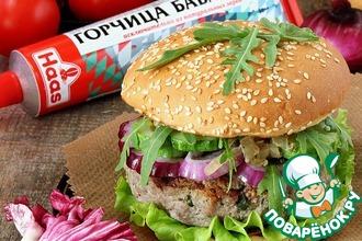 Рецепт: Котлета с начинкой или бургер по-русски