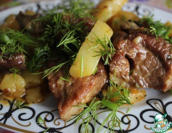 Рецепт: Жаркое с картофелем в казане
