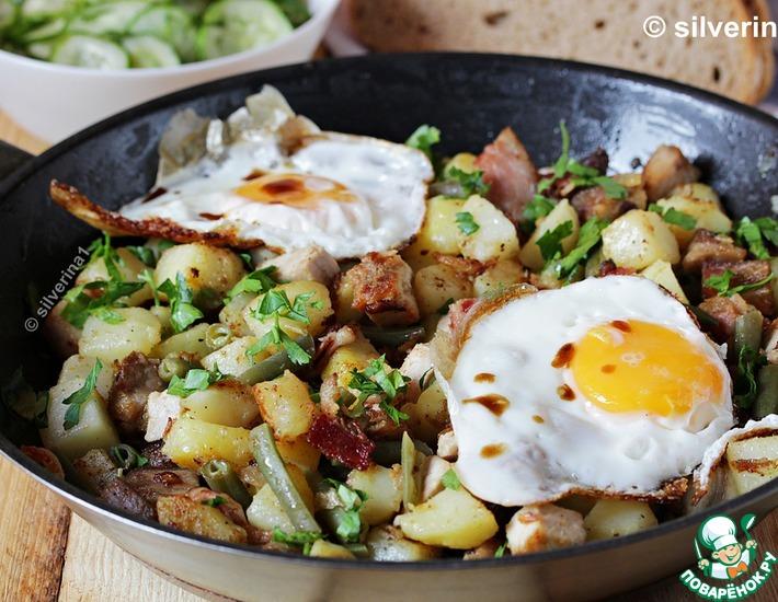 Рецепт: Жаркое со свининой и картофелем