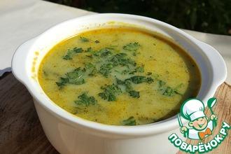 Рецепт: Куриный сливочный суп со шпинатом