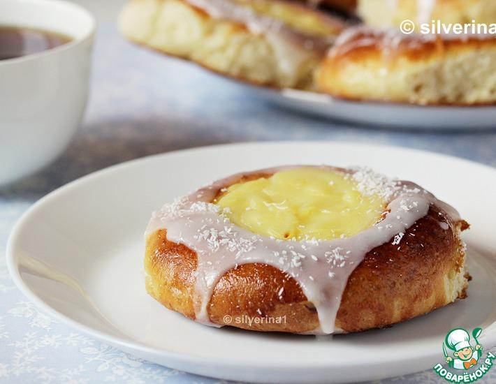 Рецепт: Норвежские булочки с кремом