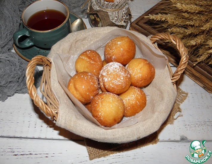 Рецепт: Быстрые пончики из рикотты